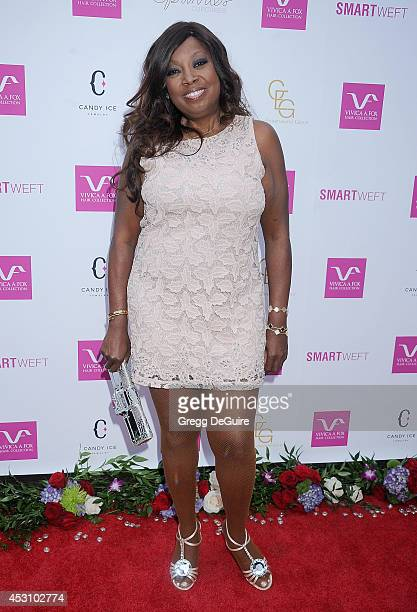 Star Jones arrives at the Vivica A Fox 50th Birthday party at Philippe Chow on August 2 2014 in Beverly Hills California
