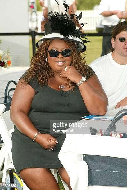Star Jones at the Mercedes-Benz Polo Challenge opening day at the Bridgehampton Polo Club in Bridgehampton, NY. July 13, 2002. Photo: Evan...