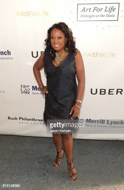 Star Jones attends 'Midnight At The Oasis' Annual Art For Life Benefit hosted by Russell Simmons' Rush Philanthropic Arts Foundation at Fairview...