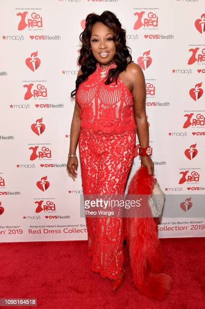 Star Jones attends The American Heart Association's Go Red For Women Red Dress Collection 2019 Presented By Macy's at Hammerstein Ballroom on...