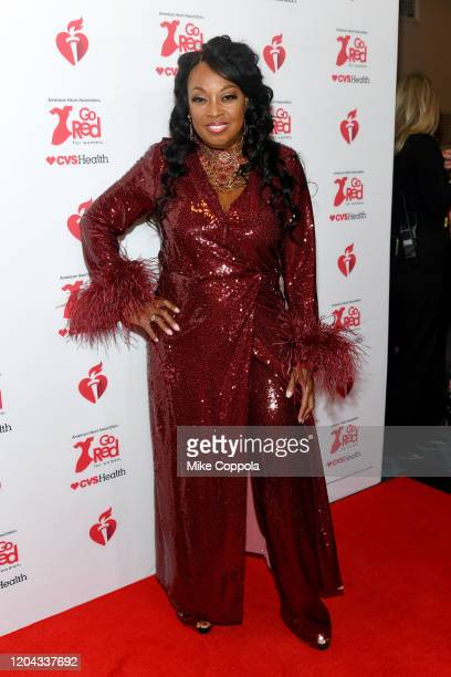 Star Jones attends The American Heart Association's Go Red for Women Red Dress Collection 2020 at Hammerstein Ballroom on February 05 2020 in New...