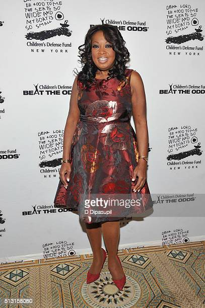 Star Jones attends the Children's Defense FundNew York 2016 Beat The Odds Gala at The Pierre Hotel on February 29 2016 in New York City