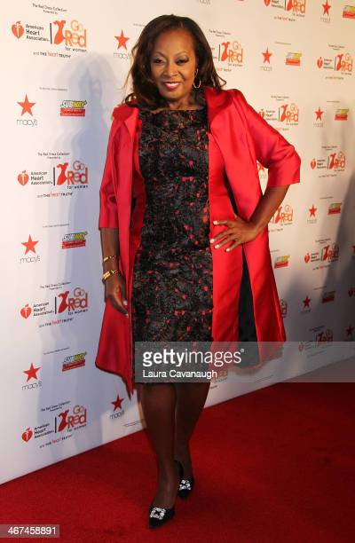 Star Jones attends The Red Dress Fashion Show during Fall 2014 Mercedes Benz Fashion week on February 6 2014 in New York City