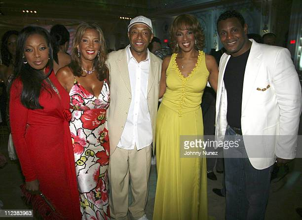 Star Jones, Denise Rich, Russell Simmons, Gayle King and Sammy Sosa
