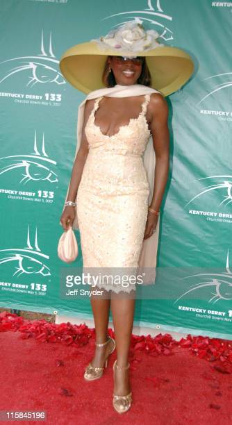 Star Jones during 133rd Kentucky Derby Arrivals at Churchill Downs in Louisville Kentucky United States
