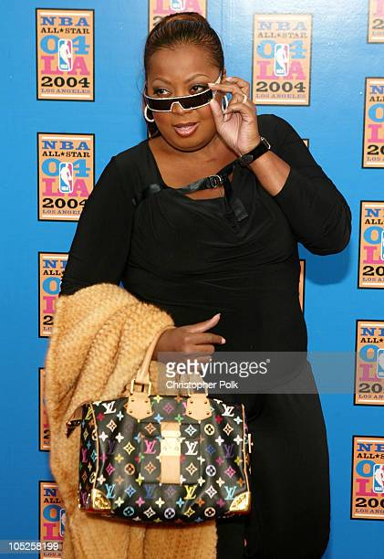 Star Jones during NBA AllStar Game Arrivals at Staples Center in Los Angeles California United States