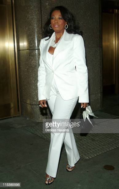 Star Jones during Olympus Fashion Week Spring 2006 Baby Phat Arrivals at Radio City Music Hall in New York City New York United States