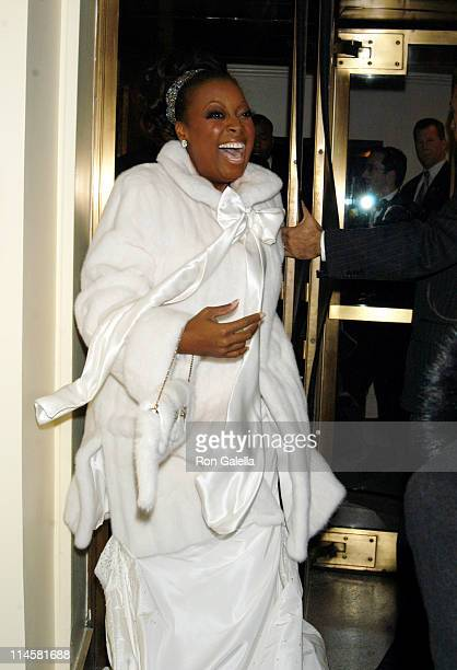 Star Jones during Star Jones and Al Reynolds Wedding Ceremony Arrivals and Departures at St Bartholomew's in New York City New York United States