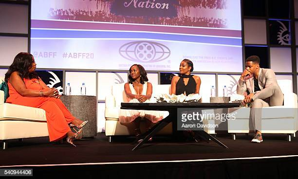 Star Jones Gabrielle Union Aja Naomi King and Nate Parker attends The American Black Film Festival first look at 'A Birth Of A Nation' on June 17...