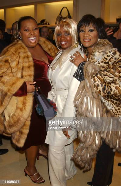 Star Jones Janice Combs and Patti LaBelle during The Dennis Basso Fur Store Opening on Madison Avenue at The Dennis Basso Fur Store in New York City...