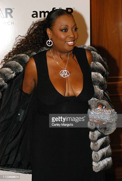 Star Jones Reynolds during Patti LaBelle Sumner Redstone and Peter Dolan Honored by amfAR at The Pierre Hotel in New York City New York United States