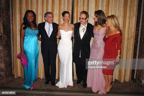 Star Jones Reynolds Tony Bennett Ashley Judd Sir Elton John Elizabeth Hurley and Anastacia attend The Breast Cancer Research Foundation Presents 'The...