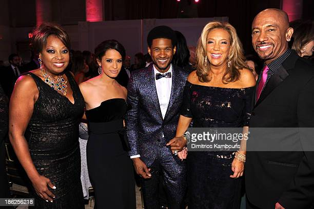 Star Jones Rocsi Diaz Usher Denise Rich and Montel Williams attend Gabrielle's Angel Foundation Hosts Angel Ball 2013 at Cipriani Wall Street on...