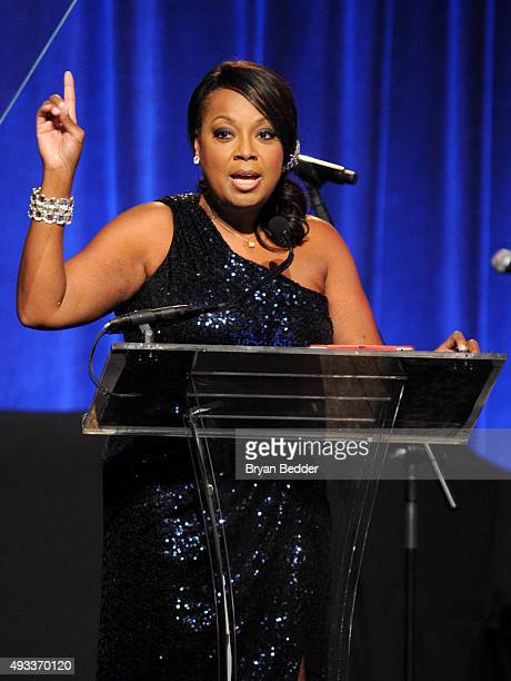 Star Jones speaks onstage during Angel Ball 2015 hosted by Gabrielle's Angel Foundation at Cipriani Wall Street on October 19 2015 in New York City