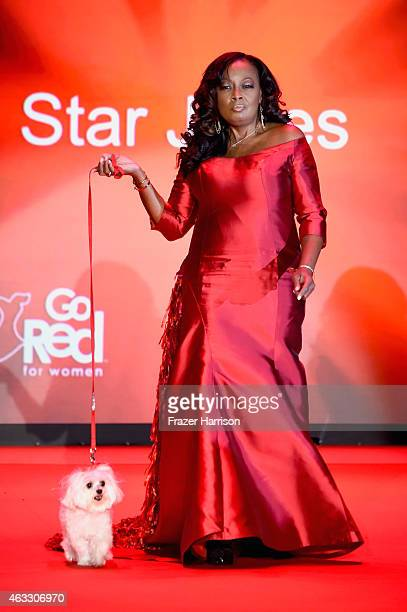 Star Jones walks the runway at the Go Red For Women Red Dress Collection 2015 presented by Macy's fashion show during MercedesBenz Fashion Week Fall...