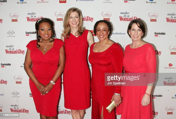 Star Jones Woman's Day editorinchief Susan Spencer actress S Ephatha Merkerson and Woman's Day Publisher Ginger Sutton attend the 2012 Woman's Day...