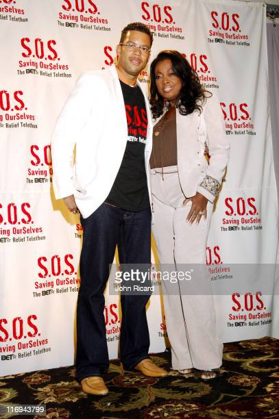 Star JonesReynolds and Al Reynolds during SOS The BET Telethon Relief Press Room at CBS Studios in New York New York United States