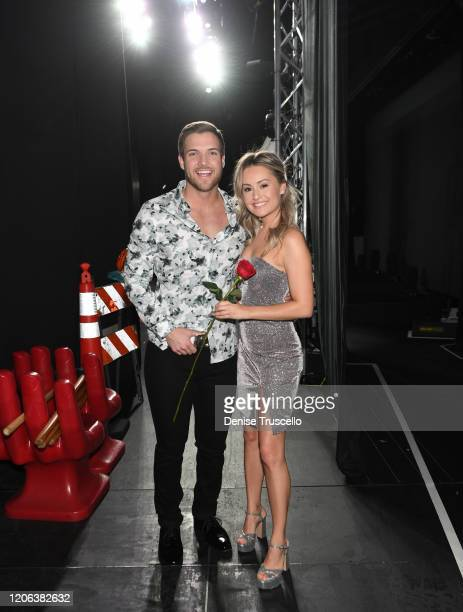 Star Jordan Kimball and Christina Creedon backstage at Chippendales at Rio All-Suite Hotel & Casino on February 14, 2020 in Las Vegas, Nevada.