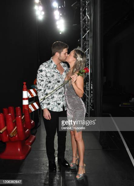 TV star Jordan Kimball and Christina Creedon backstage at Chippendales at Rio AllSuite Hotel Casino on February 14 2020 in Las Vegas Nevada