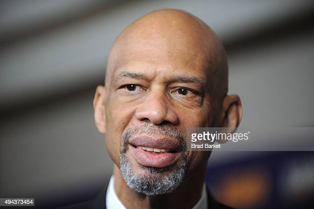Star Kareem Abdul Jabbar attends the Kareem Minority Of One New York Premiere at Time Warner Center on October 26 2015 in New York City