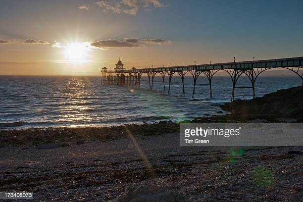star light - clevedon pier stock pictures, royalty-free photos & images