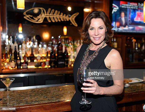 Star LuAnn de Lesseps and close friends enjoy an intimate holiday celebration at Bonefish Grill on December 8 2014 in New York City