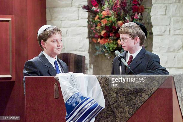 FRASIER Star Mitzvah Episode 6 Pictured Trevor Einhorn as Frederick Gaylord Crane Brendan Hill as Jeremy Berman