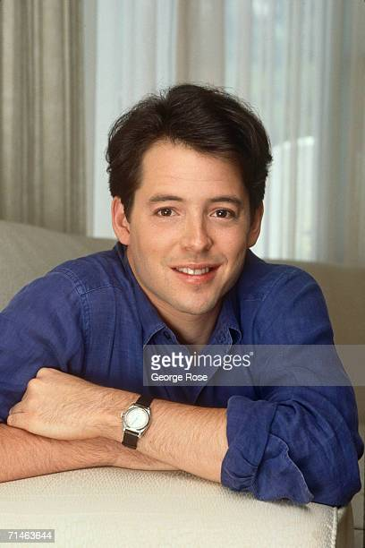"""Star of Broadway's """"The Producers"""" and cinema """"Ferris Bueller's Day Off, """" Matthew Broaderick, poses during a 1990 West Hollywood, California, photo..."""