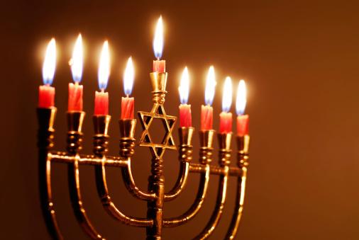 Star of David Hanukkah menorah 157389389