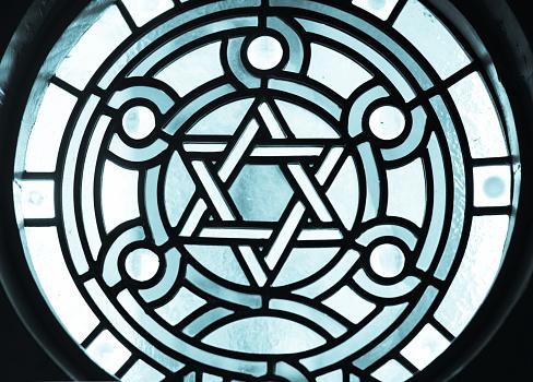Star of David or Magen David Stainglass 469251568