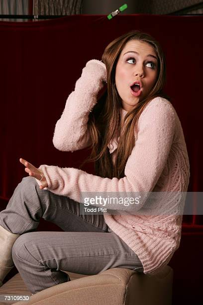Star of Disney Channel's Hannah Montana Miley Cyrus poses for a portrait on January 5 2007 in New York City