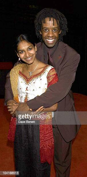 Star Of Play Adrian Lester With Co Star The Gala Evening Of Hamlet At The Young Vic Theatre London