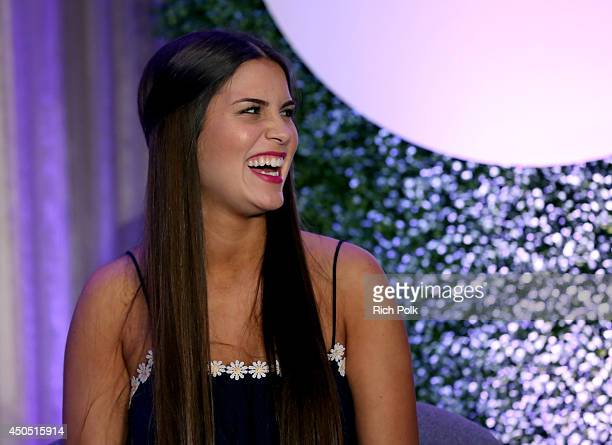 Star of Preachers' Daughters Victoria Koloff speaks onstage during the 'The FaithBased Personalities – Staying True to Themselves and Fans' panel at...