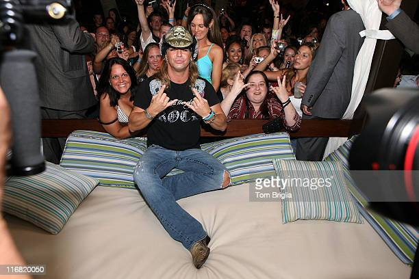 """Star of """"Rock the Love"""" and former lead singer from the 80's hair band """"Poison"""" Bret Michaels hosts an after party at """"The Pool"""" at Harrah's Atlantic..."""