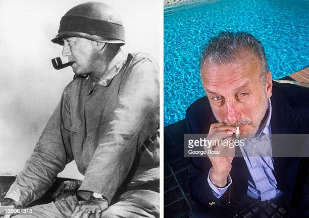 "Star of stage and screen, George C. Scott, smokes a cigarette during a 1987 Beverly Hills, California, photo portrait session. Scott won the ""Best..."