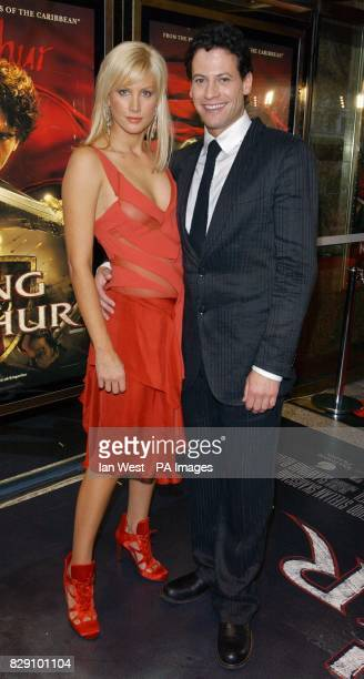 Star of the film Ioan Gruffudd and his girlfriend Alice Evans arrive for the European film premiere of King Arthur at the Empire Leicester Square in...