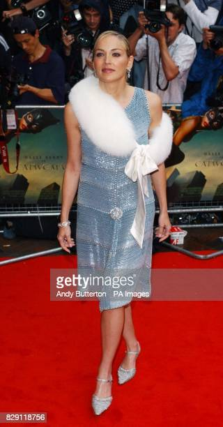 Star of the film Sharon Stone arrives for the European premiere of Catwoman at the Vue cinema in Leicester Square central London