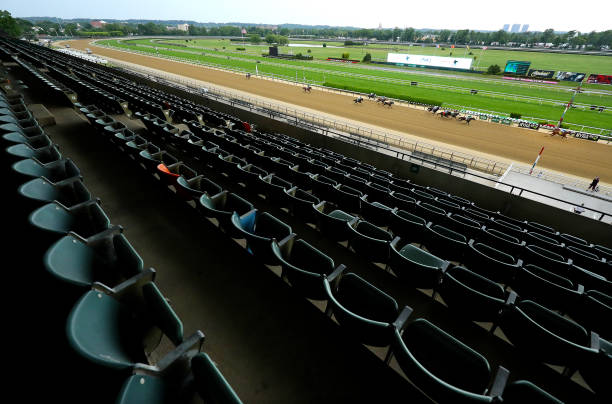 NY: Horse Racing Resumes at Belmont Park