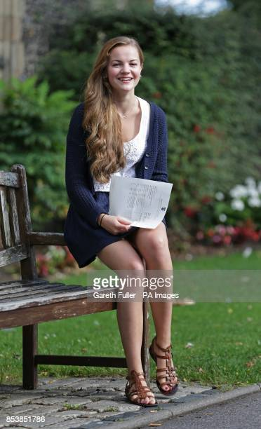 Star of TV's The 739 and the film Never Let Me Go Izzy MeikleSmall celebrates gaining three A* grade Alevels at Brighton College in East Sussex