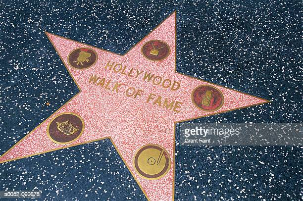 star on hollywood boulevard - walk of fame stock pictures, royalty-free photos & images