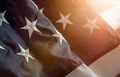 Star on the american flag