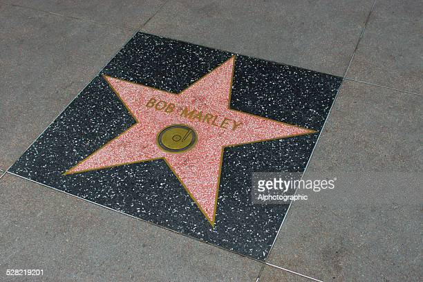 star on walk of fame - bob marley california stock pictures, royalty-free photos & images