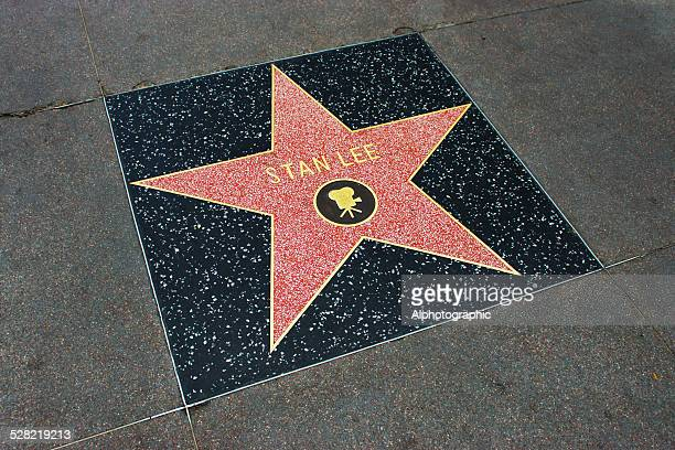 star on walk of fame - stan lee stock pictures, royalty-free photos & images