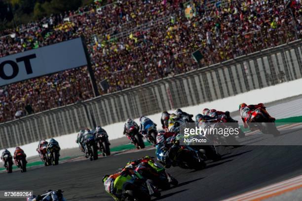 Star race of Moto2 during of the Gran Premio Motul de la Comunitat Valenciana Circuit of Ricardo TormoValencia Spain Saturday 12th of november 2017