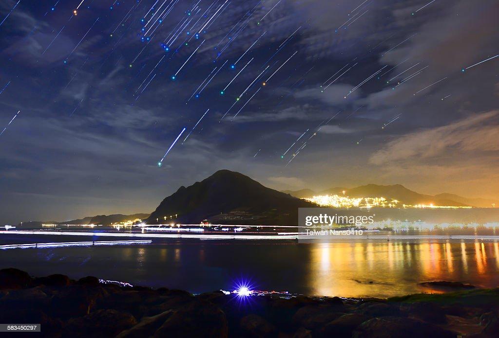 Star raining : Stock Photo