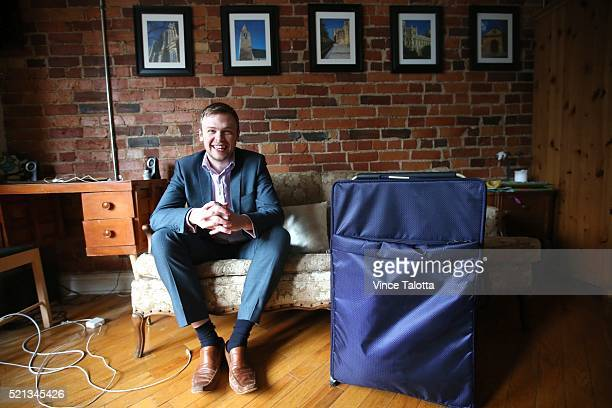 TORONTO ON MARCH 3 Star reporter David Bateman poses with his suit case after his year staying with Airbnb in Toronto