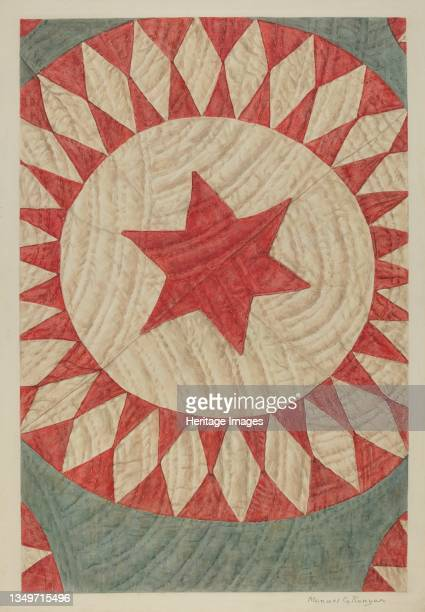 Star & Ring Quilt, circa 1938. Artist Manuel G. Runyan.