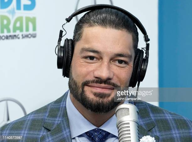 Star Roman Reigns visits The Elvis Duran Z100 Morning Show at Z100 Studio on April 05 2019 in New York City