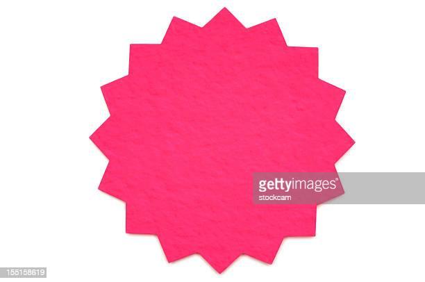 Star shape blank postit note on white