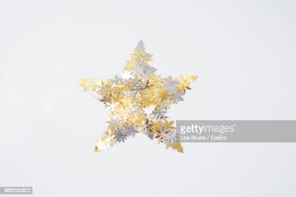 Star Shape Decoration Against White Background